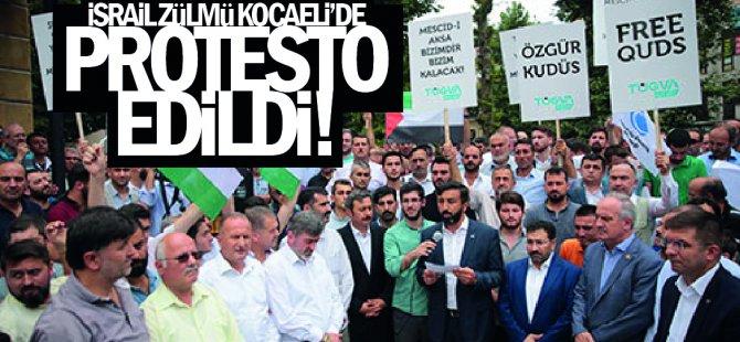 İsrail zulmü Kocaeli'de protesto edildi!