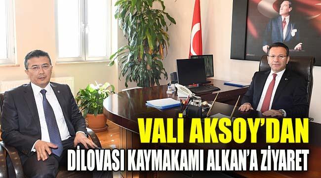 Vali Aksoy, Dilovası Kaymakamını ziyaret etti