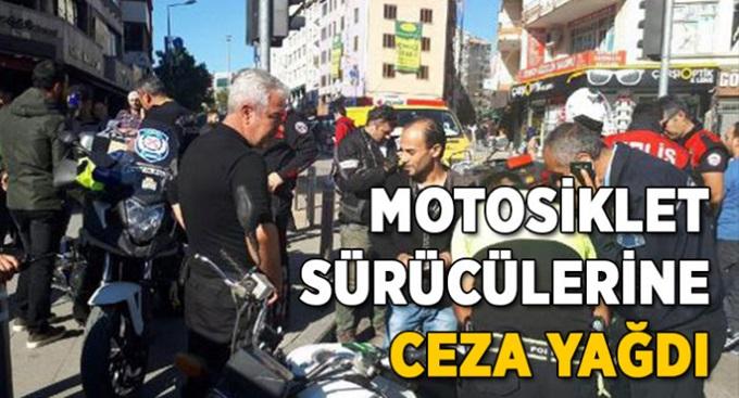 Gebze'de motosiklet sürücülerine ceza yağdı!