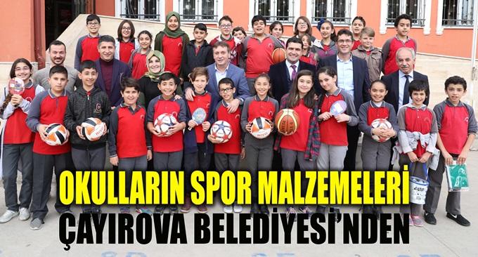 Okulların Spor Malzemesi Çayırova Belediyesi'nden
