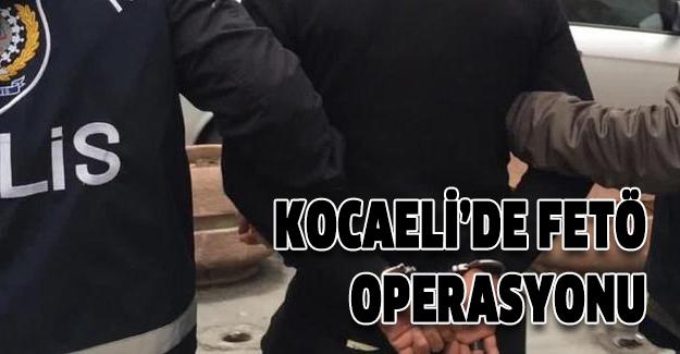 Kocaeli'de FETÖ'nün 'ışık evleri'ne operasyon