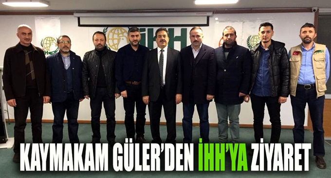 Kaymakam Güler'den İHH Gebze'ye Ziyaret