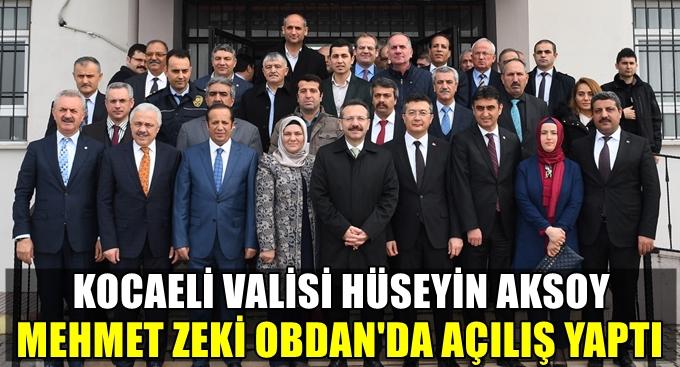 Vali Aksoy Dilovası'nda açılış yaptı