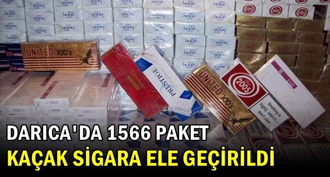 Darıca'da bin 566 paket kaçak sigara yakalandı