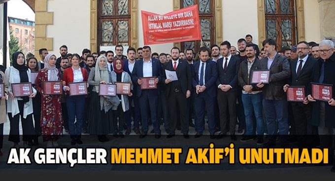 AK Gençler Mehmet Akif'i unutmadı!