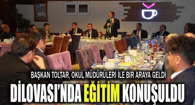 Başkan Toltar, okul müdürleri ile bir araya geldi