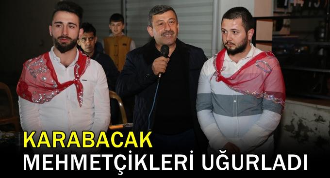 Karabacak Mehmetçikleri uğurladı