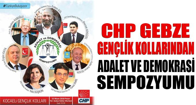 CHP'li gençlerden Adalet ve Demokrasi sempozyumu