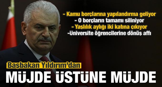 Başbakan Yıldırım'dan 80 milyona bahar müjdesi!