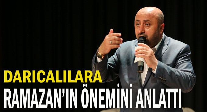 Döngeloğlu, Ramazan'ın önemini anlattı