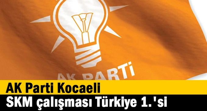 AK Parti Kocaeli SKM çalışması Türkiye 1.'si
