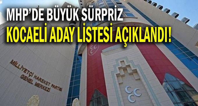 MHP Kocaeli 24 Haziran Seçimleri Aday Listesi Açıklandı!