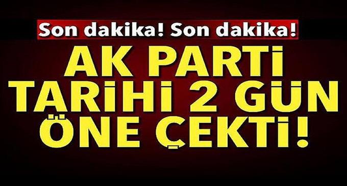 AK Parti aday tanıtım toplantısını 24 Mayıs'a çekti!