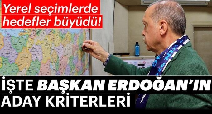 Başkan Erdoğan adayları bu kriterlere göre belirleyecek...