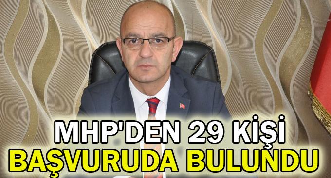 MHP'den 29 kişi başvuruda bulundu