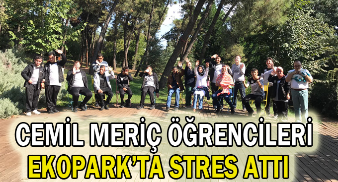 Cemil Meriç öğrencileri Ekopark'ta stres attı