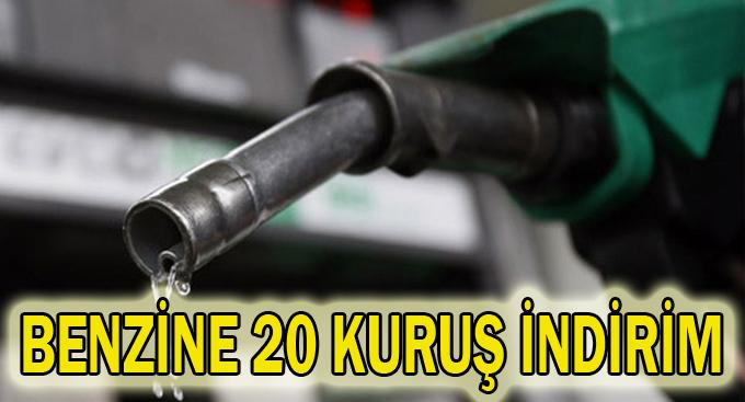 Benzine 20 kuruş indirim