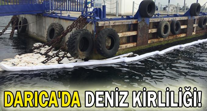 Darıca'da deniz kirliliği!