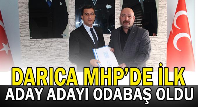 Darıca MHP'de ilk aday adayı Odabaş oldu!