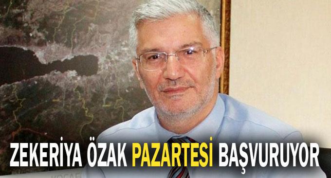 Zekeriya Özak Pazartesi başvuruyor