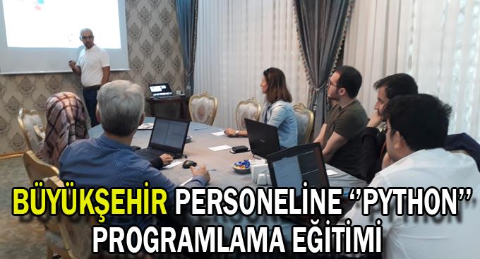 Büyükşehir personeline ''Python'' programlama eğitimi
