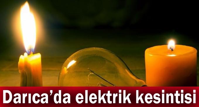 Darıca'da elektrik kesintisi!