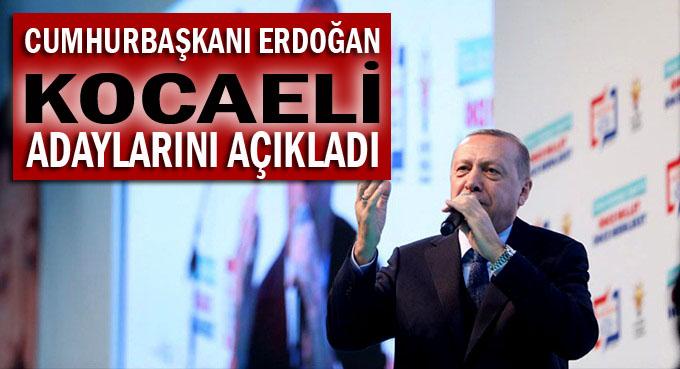 Erdoğan adayları açıkladı!