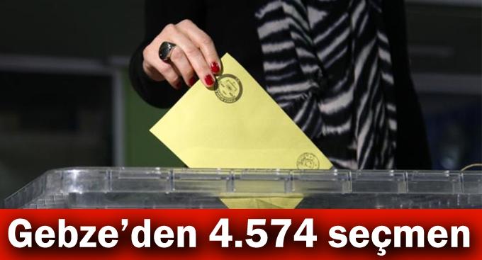 Gebze'den 4.574 seçmen
