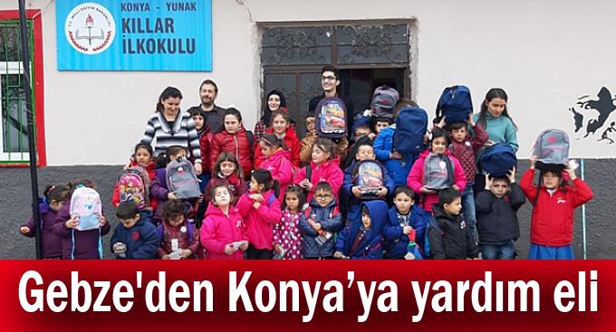 Gebze'den Konya'ya yardım eli