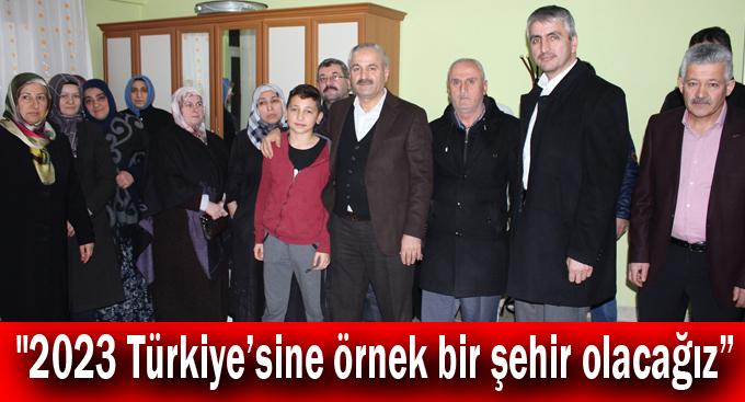 """Büyükgöz, """"2023 Türkiye'sine örnek bir şehir olacağız"""""""