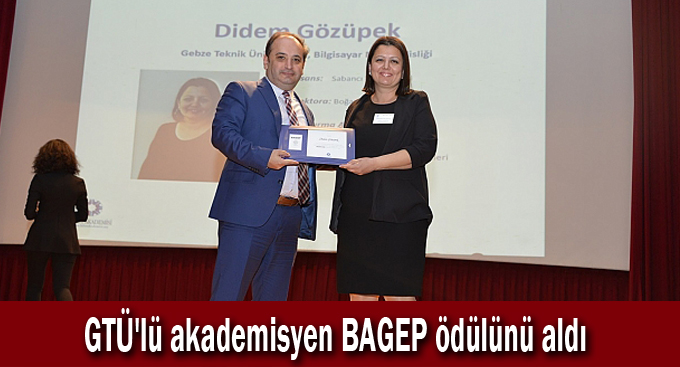 GTÜ'lü akademisyen BAGEP ödülünü aldı