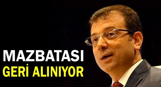 Ekrem İmamoğlu'nun mazbatası iptal ediliyor
