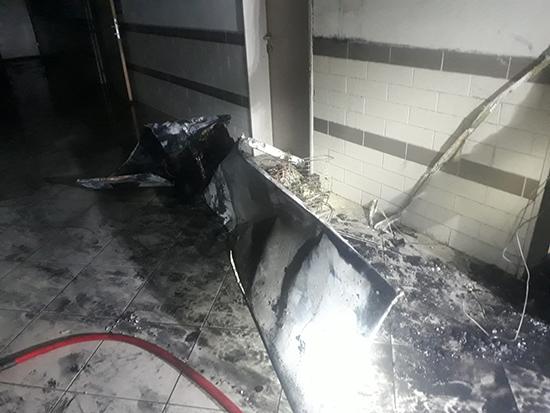 Öğretmenler odası çıkan yangında kül oldu