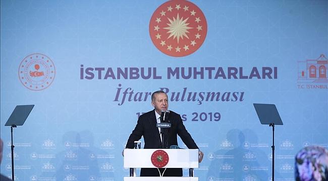 Erdoğan: Muhtarlık seçimi belediye seçiminden ayrı olmalı