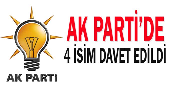 AK Parti'de 4 isim davet edildi