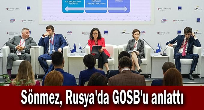 Sönmez, Rusya'da GOSB'u anlattı