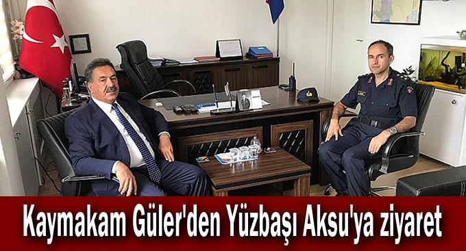 Kaymakam Güler'den Yüzbaşı Aksu'ya ziyaret