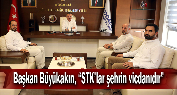 """Başkan Büyükakın, """"STK'lar şehrin vicdanıdır"""""""