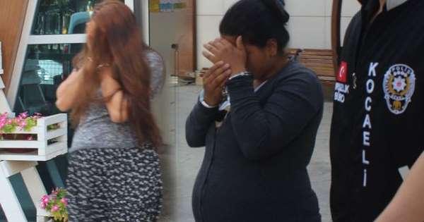 Hamile hırsızlar yakalandı!