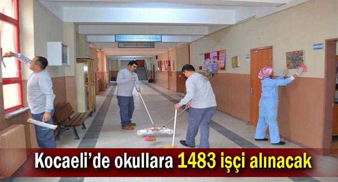 Kocaeli'de okullara 1483 işçi alınacak