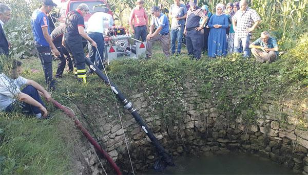 Kayıp kadın su kuyusunda arandı!