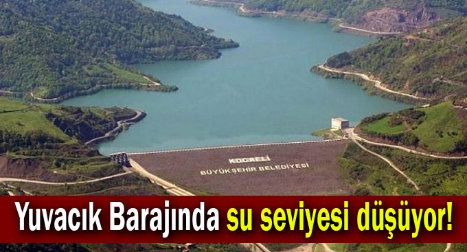 Yuvacık Barajında su seviyesi düşüyor!