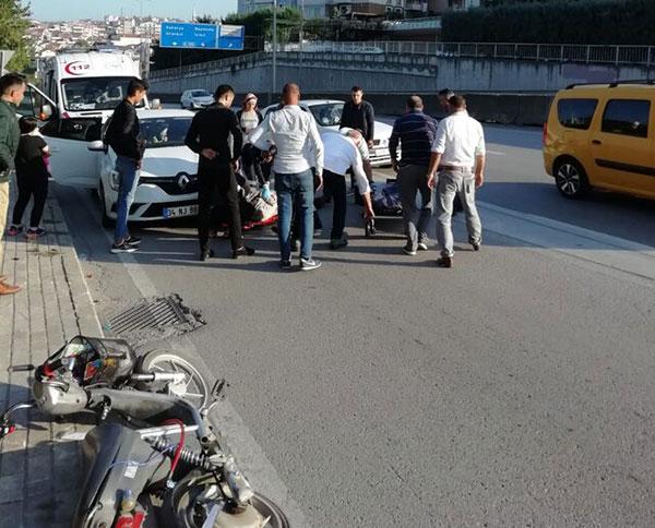 Otomobille çarpışan motosiklet sürücüsü öldü!