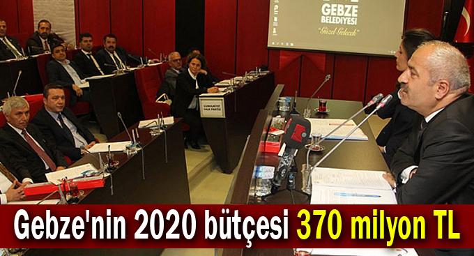 Gebze'nin 2020 bütçesi 370 milyon TL