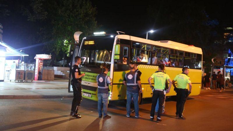 Kocaeli'de halk otobüsleri denetlendi!