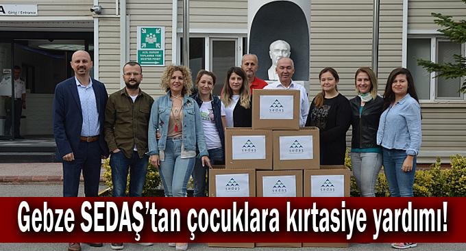 Gebze SEDAŞ'tan çocuklara kırtasiye yardımı!