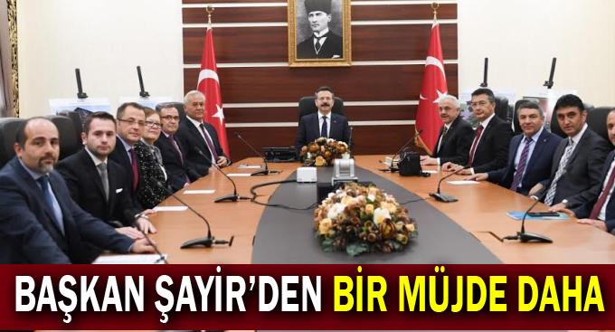 Başkan Şayir'den bir müjde daha!