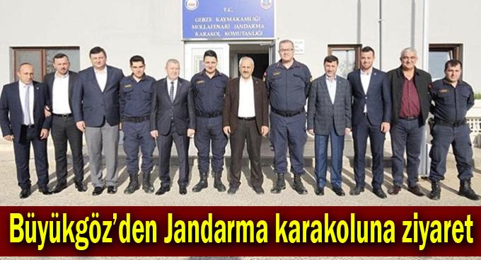 Büyükgöz'den Jandarma karakoluna ziyaret