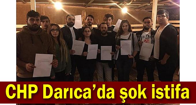 CHP Darıca'da 12 istifa!