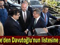 Davutoğlu'nun listesi yayınlandı!